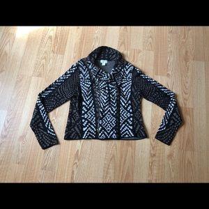 Carmen Marc valvo jacket sweater brown  cotton-Xl